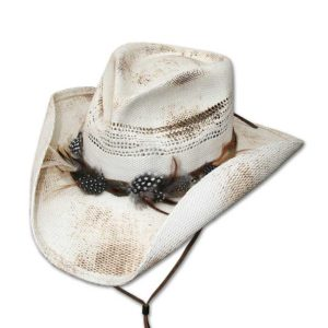 Sombrero paja blanco plumas - Country and Roses - Corona - 1