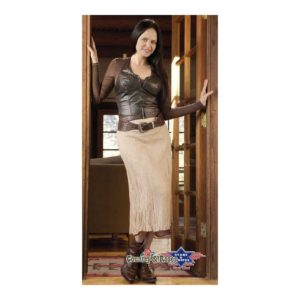 Falda country larga beige Layla