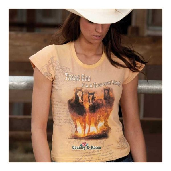 Camiseta country para mujer Happy Trail