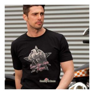 Camiseta country motera de hombre Star State