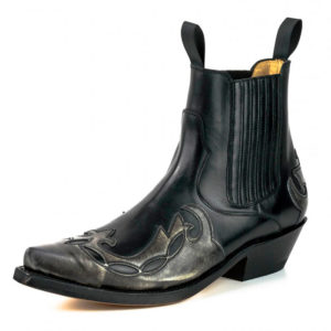 Botines cuero negro gris - Country and Roses - Mayura - 2