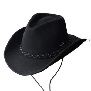 Sombrero fieltro negro tejano - Country and Roses - Dalton - 1