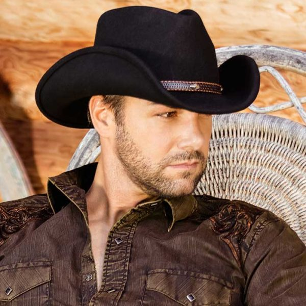 Sombrero fieltro negro vaquero - Country and Roses - Dallas - 3