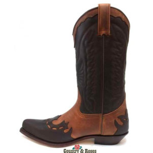 Botas calero de cuero marron y moka - Country and Roses - Vaqueras - 2