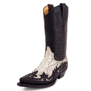 Botas country cuero pitón Sendra - Country and Roses - Pitón blanca - 2
