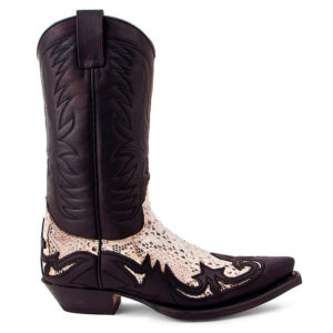 Botas country cuero pitón Sendra - Country and Roses - Pitón blanca - 6
