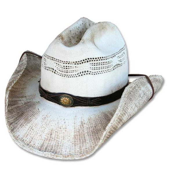 Sombrero paja blanco cowboy - Country and Roses - Snake - 1
