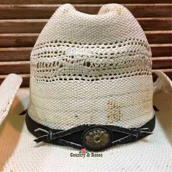 Sombrero paja blanco cowboy - Country and Roses - Snake - 7