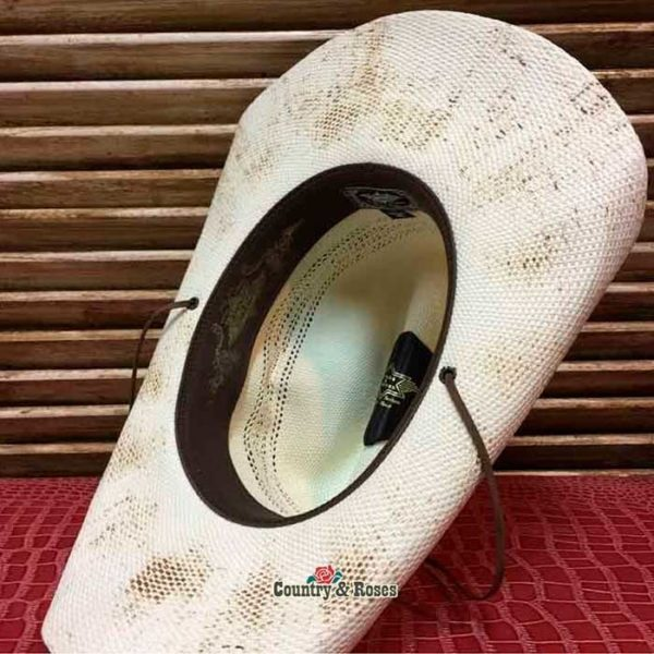 Sombrero paja blanco cowboy - Country and Roses - Snake - 8