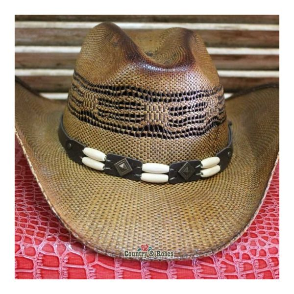Sombrero paja tratada marrón Nashville Brown