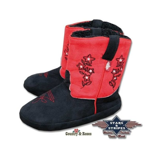 Zapatillas country rojas y azules Cuddly