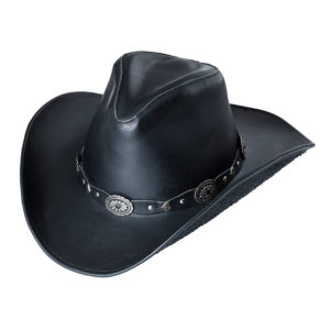 Sombrero cuero negro vaquero - Country and Roses - Luke Black - 1