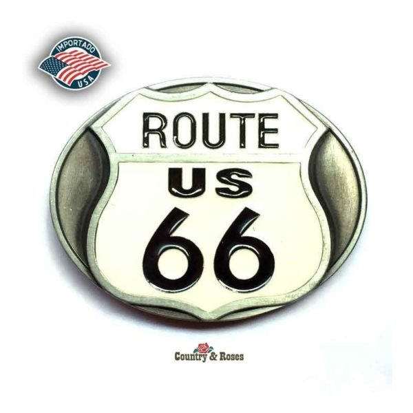 Hebilla Route 66 white