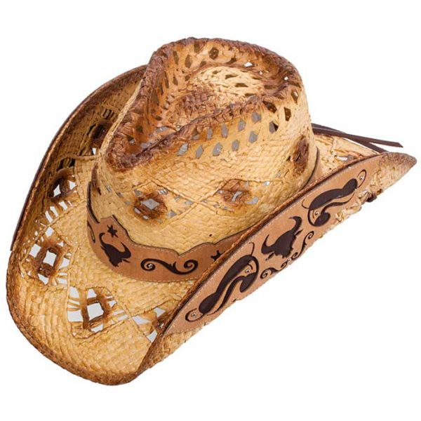 Sombrero paja americano - Country and Roses - Callahan - 1