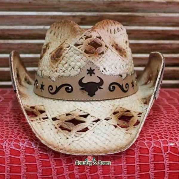 Sombrero paja americano - Country and Roses - Callahan - 2