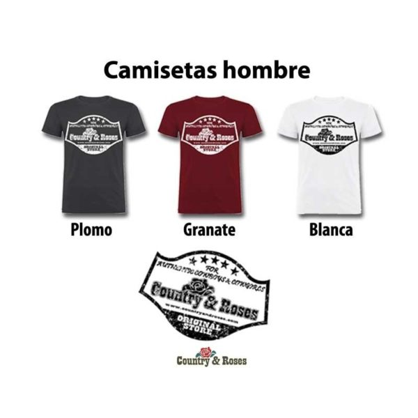 Camiseta para hombre Country and Roses