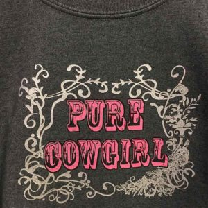 Sudadera gris oscuro estilo country cowgirl - Tienda Country and Roses - Sudadera Pure Cowgirl - 2