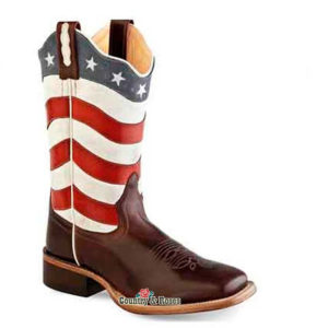 Botas bandera americana infantiles - Country and Roses - Old West - 1