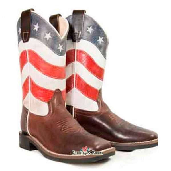 Botas bandera americana infantiles - Country and Roses - Old West - 3