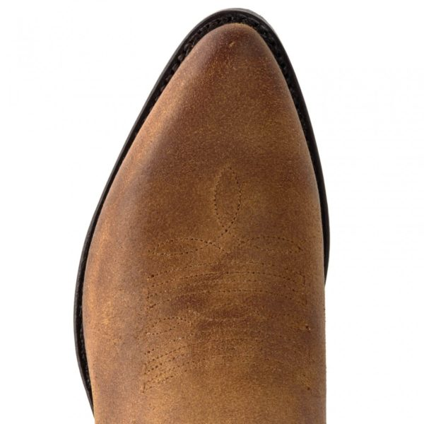 Botines marrón serraje tejanos - Country and Roses - Whisky - 7