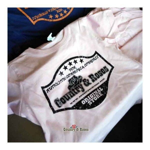 Camiseta blanca para hombre Country and Roses