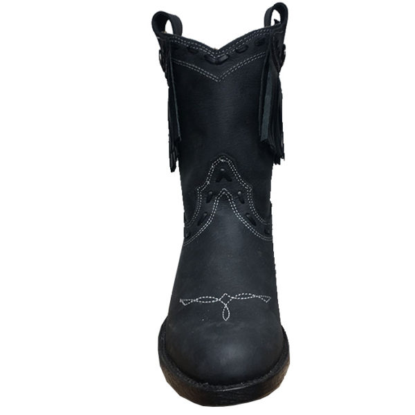 Botines para mujer negros con flecos - Country and Roses - Yampa - 5