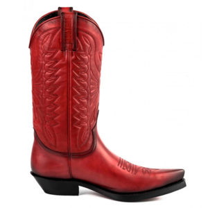 Botas de cuero rojo vaqueras cowgirl - Country and Roses - Indiana -1