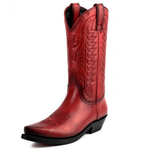 Botas de cuero rojo vaqueras cowgirl - Country and Roses - Indiana -2
