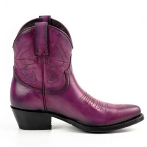 Botines cuero morado - Country and Roses - Sacramento - 1