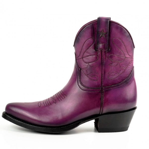 Botines cuero morado - Country and Roses - Sacramento - 3