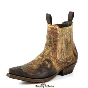 Botines de cuero marrón bicolor - Country and Roses - Thor - 2