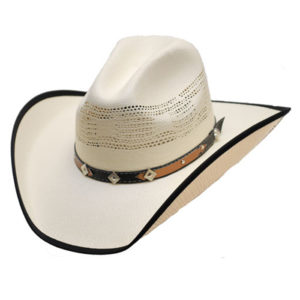 Sombrero blanco vaquero americano - Country and Roses - Burnet - 1