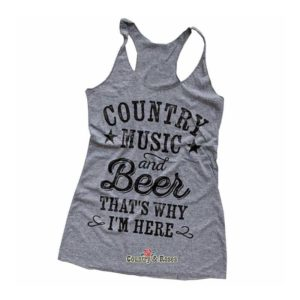 Camiseta de tirantes COUNTRY MUSIC & BEER