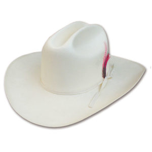 Sombrero blanco vaquero tejano - Country and Roses - Cattleman - 1