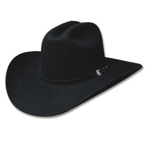 Sombrero fieltro negro tejano - Country and Roses - Appaloosa Black - 1