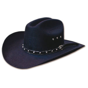 Sombrero fieltro negro tejano - Country and Roses - Tucson Black - 1