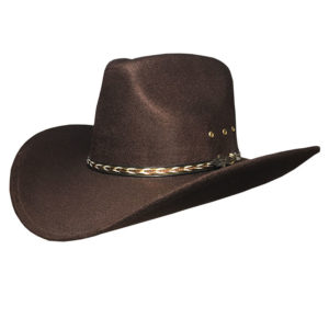 Sombrero forrado en fieltro marrón - Country and Roses - Kansas Brown - 1