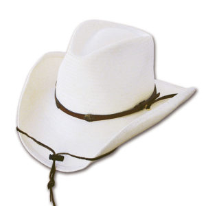 Sombrero paja blanco tejano - Country and Roses - Bandit - 1