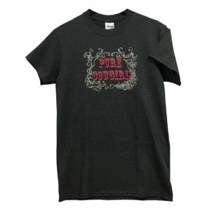 Camiseta gris mujer - Tienda Country and Roses - Pure Cowgirl - 1