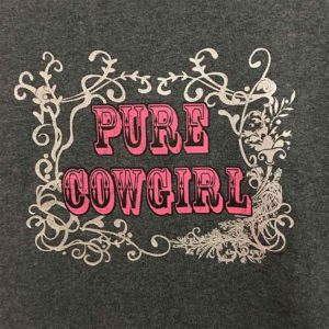 Camiseta gris mujer - Tienda Country and Roses - Pure Cowgirl - 2