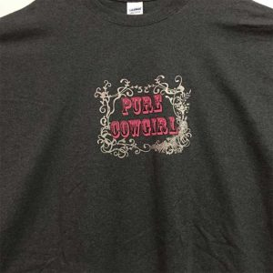 Camiseta gris talla grande 5XL - Tienda Country and Roses - Pure Cowgirl 5XL -2