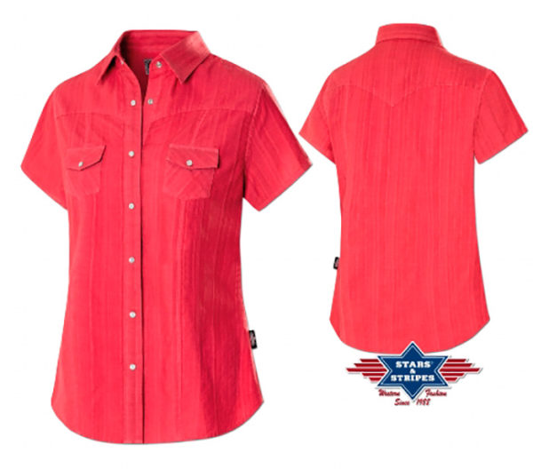 Camisas vaqueras cowgirls country linedance - Country and Roses - Madrid- Camisa Malina Red - 1