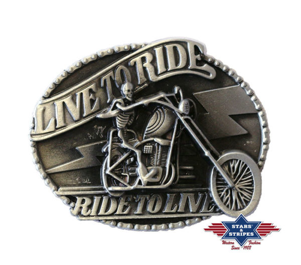 Hebilla motera - Country and Roses - Live to Ride Ride To Live -1