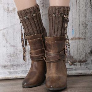 Calentadores botas - Country and Roses - Brown Warmers - 2