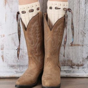 Calentadores para botas - Country and Roses - Beige Warmers - 2