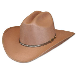 Sombrero forrado en fieltro marron - Country and Roses - Scott - 1