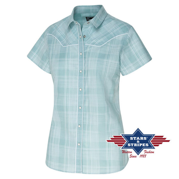 Camisa azul cowgirl - Country and Roses - Annetta - 1