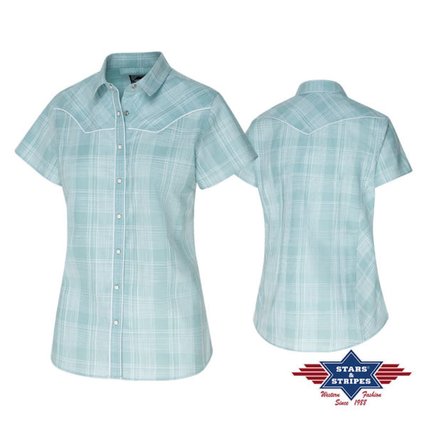 Camisa azul cowgirl - Country and Roses - Annetta - 3