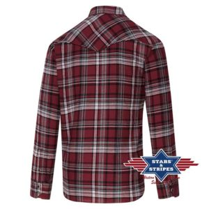 Camisa granate de cuadros - Country and Roses - Ranger - 2