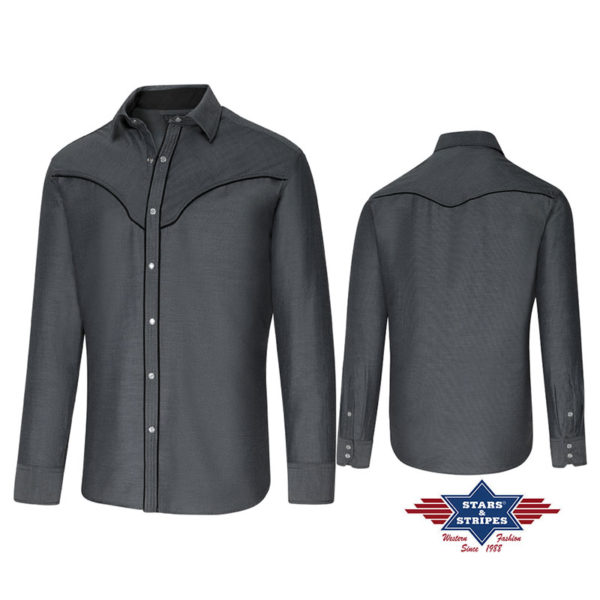 Camisa gris oscuro - Country and Roses - Sunray - 3